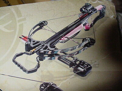 Barnett Recruit 100 Crossbow & Red Dot Sight Quiver Cocking Rope Carbon Arrows