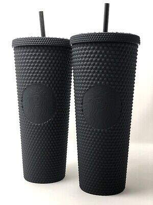 PAIR (2) Starbucks Matte Black Studded Tumbler Cup LE Fall 2019 NEW W/ TAGS NWT