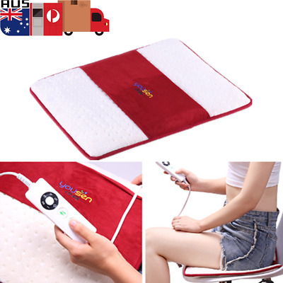 Electric Heated Pad Heat Mat 5 Gear Pain Relief Safe Home Car Body Soft Seat