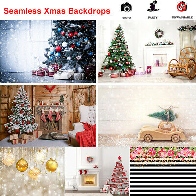 Vinyl Christmas Tree Snowman Photography Backdrop Background 3x5/5x7/6x9/10x10FT