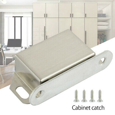 Magnetic Cabinet Catch Set Cupboard Wardrobe Door Catch Strong Steel Magnets