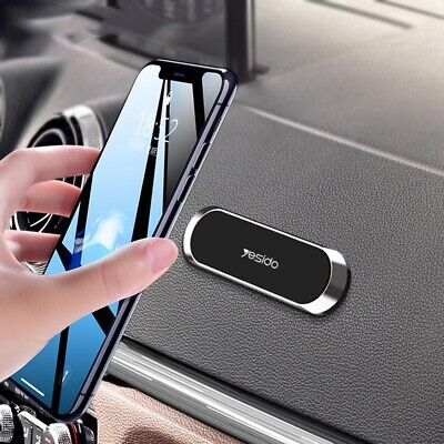 Mini Strip Shape Magnetic Car Phone Holder Stand Magnet Mount For Xiaomi Samsung