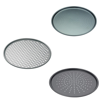 Oven Pizza Tray Non Stick Crisper Pan Aerating Holes Air Flow Dishwasher Safe