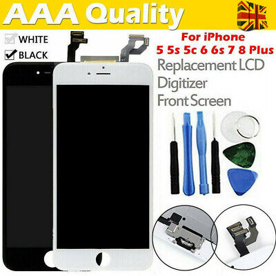 For iPhone 5s 6 7 8 Plus LCD Display Accembly Digitizer Touch Screen Replacement