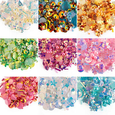 Embellishment Shiny Pearls Wedding Sewing Paillette Loose Sequin Round Bead
