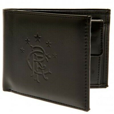 Rangers Football Club Official Leather Wallet Rfid Protection Team Crest Badge