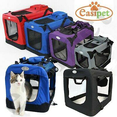 Dog Cat Puppy Rabbit Fabric Pet Crate Carrier Travel Portable Kennel Cage House