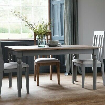 Frank Hudson Gallery Direct Cookham Extending Grey Dining Table
