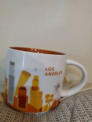 Starbucks YAH Ceramic You Are Here Collection Los Angeles 2015 Mug Cup 14oz
