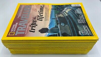 12 Issues of National Geographic Traveller Magazine from 2018 & 2019