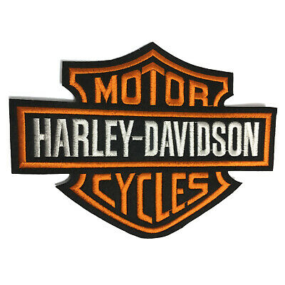 "Harley Davidson Classic Bar And Shield Embroidered Patch Iron On 9x6.8"" 23x17Cm"