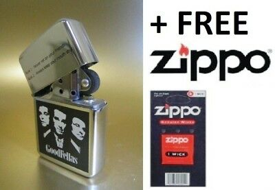Windproof Refillable Lighter Goodfellas High Quality Fun Gift Idea + ZIPPO WICK