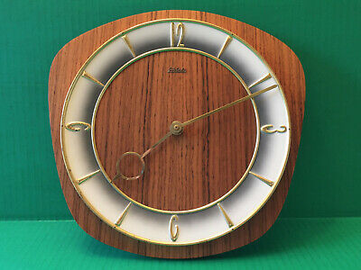 Mid Century Modern VTG German WEHRLE Danish Modern Teak Clock FACE HANDS 4 PARTS