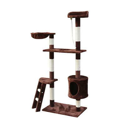 """60"""" Cat Tree Kitten Playhouse Condo Furniture Scratching Post Toys Kitty Tower"""