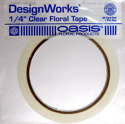 """Brand New Oasis 1/4"""" Clear Floral Tape - 60 yd (Pack of 3) - FREE SHIPPING"""