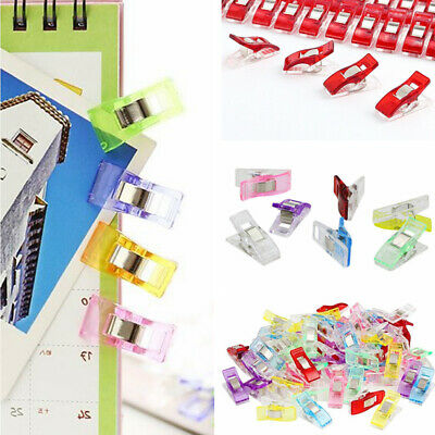 50Pcs Clover Wonder Clips for Crafts Quilting Sewing Knitting Crochet Candy Colo