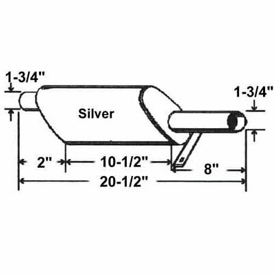 Muffler - Horizontal Mount Ford 4600 2600 4000 6600 4110 5000 2000 3600 3000