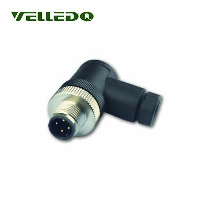 VELLEDQ 4-pin Bend On-site M12 Screw Terminal Plug Fittings IP67 Quickly Connect