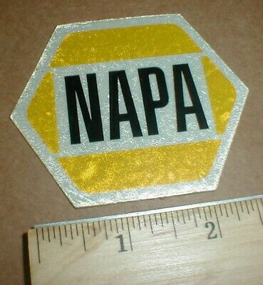"""Old VTG NAPA car truck farm Reflective type small 2.5"""" Drag racing decal sticker"""