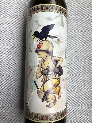 James Jean Wine Diddley Bow Bottle Label Art Autographed Signed Wine, No Alcohol