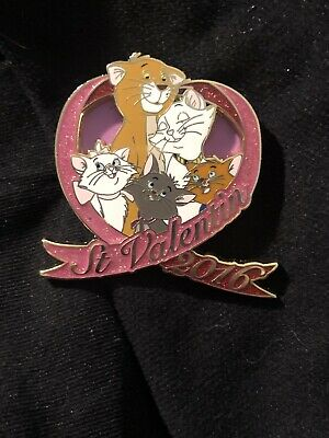 Disney Aristocats Duchess Marie Berlioz Toulouse O'malley Valentine's Day Pin