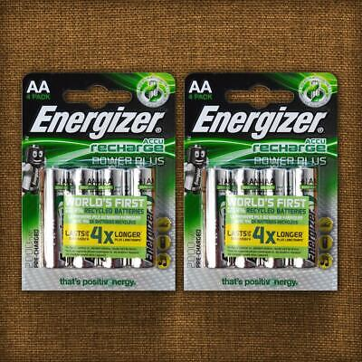 Energizer AA Rechargeable Batteries Power Plus PreCharged NiMH AA 2000mAh New