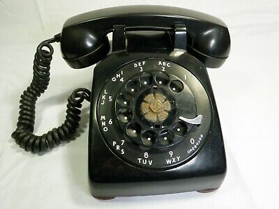 Bell Systems Western Electric Rotary Dial Black Telephone 502 10-57 For Parts
