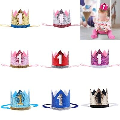 Baby Girl Boy Birthday Hat 1st Princess Crown Hair Accessories Party Decor Nice#