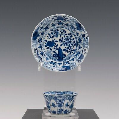 Nice Chine B&W porcelain cup & saucer, Kangxi period, 18th ct.