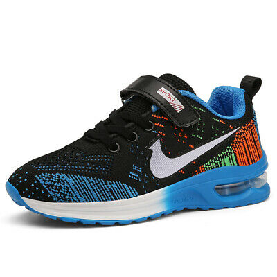 Boys Running Shoes Air Cushion Sneakers Sports Big Kids Athletic Mesh Sneakers