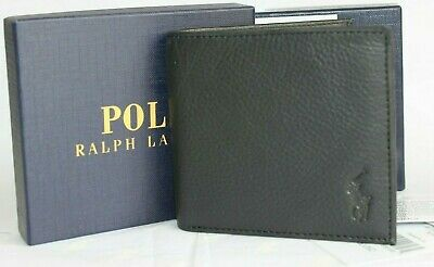 Ralph Lauren Polo Black genuine Leather Wallet With Card slots gift box bnwt