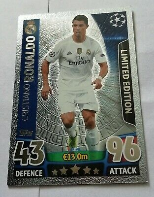 Match attax Champions League 2015 2016 CRISTIANO RONALDO SILVER LTD Edition