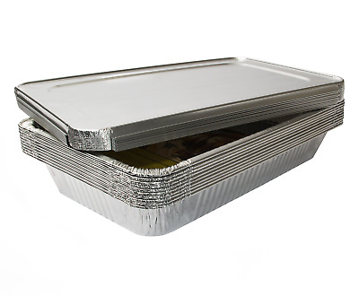 eHomeA2Z 10 Pack Heavy Duty Full Size Disposable Aluminum Foil Steam Table Pans