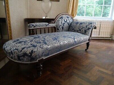 Antique Chaise Longue Late Victorian/Early Edwardian