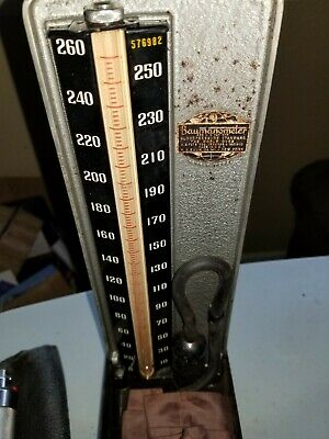 Antique Vintage Baumanometer 1904 Blood Pressure Monitor And Extra Cuff