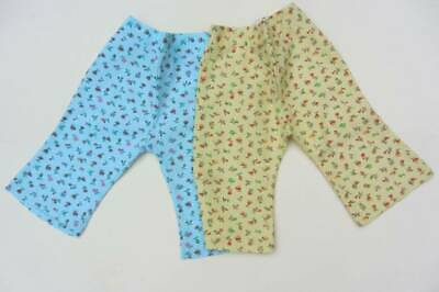 children's vintage flares 70's New with tags blue yellow floral unique 18 months