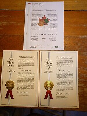 Patent, US & Canadian Utility patents for sale or license