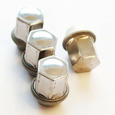4 x Silver Wheel Nuts M14x1.5 for Range Rover Evoque 11-16 Freelander 2 Velar