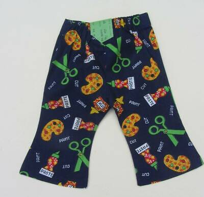 children's vintage flares 70's New with tags blue craft design scissors artist