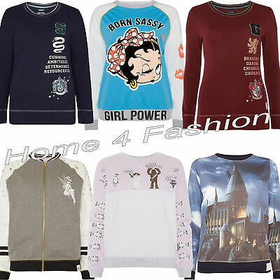 Ladies Disney Jumper Women's Harry Potter Sweatshirt Girls Pyjamas Top Primark