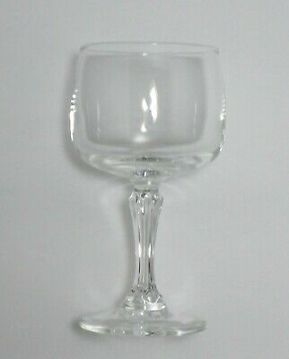"""Vintage Set of 6 Clear Glass Cordial / Demitasse Stemmed Glasses~Approx 4"""" Tall"""