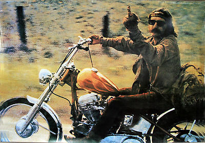 Easy Rider Poster The Bird Middle Finger Dennis Hopper Ultimate  Protest Poster
