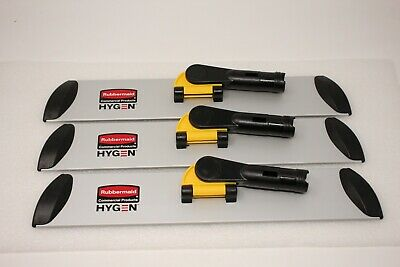 """Lot Of 3 - Rubbermaid Q560 Commercial Hygen 17"""" Quick Connect Frame/Wet/Dry Mop"""