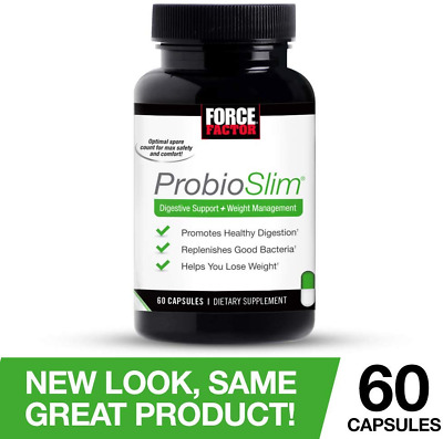 Force Factor ProbioSlim Probiotics + Weight Loss Supplement, Burn Fat, Lose Gas,