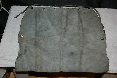 Vintage Leather Welding APRON * Scovill Snaps * Woodworkers Carvers * Distressed