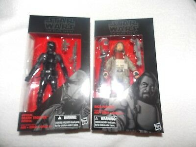 "Star Wars ""The Black Series"" Baze Malbus + Death Trooper, 6-inch Figures,VHTF !"