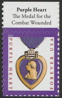 US 5419 Purple Heart Medal forever header single MNH 2019 after Oct 15