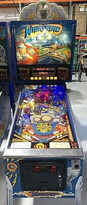 Whirlwind Pinball Machine Williams Coin Op Arcade 1990 LEDs