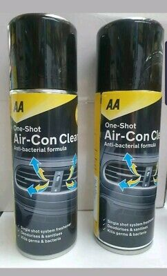 2 x Air con Bomb car Air condiioning Cleaner Restorer Disinfecting Freshner AA