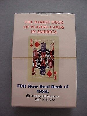 Rare Fdr New Deal Deck 1934 Roosevelt Political Playing Cards New Sealed